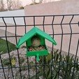 Impresiones 3D gratis Alimentador de casetas de bolas de grasa de pájaro, shiriu11
