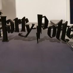 Descargar Modelos 3D para imprimir gratis LOGO DE HARRY POTTER, shiriu11