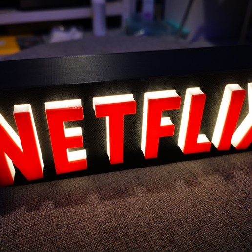 Download free 3D printing designs A tribute to NETFLIX, johnhdk61