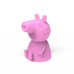 untitled.1591.png Download free STL file Peppa the pig • 3D printing design, hcchong
