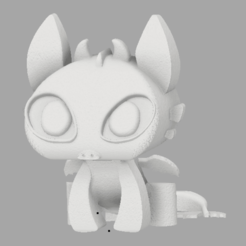 chimuelo2.png Download STL file Toothless • 3D print design, amilkarsp