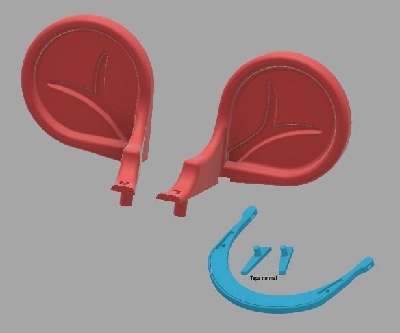 orejas.jpg Download free STL file Mouse ears for COVID-19 headband type • 3D printer object, amilkarsp