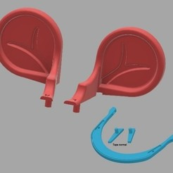 orejas.jpg Download free STL file Mouse ears for COVID-19 headband type • 3D printer object, amilkarsp