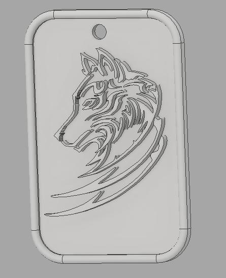 llavero lobo.png Descargar archivo STL gratis llavero lobo • Modelo para la impresora 3D, amilkarsp