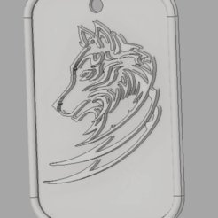 Impresiones 3D gratis llavero lobo, amilkarsp