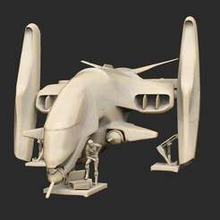 Pose46OlgaWithGunship.jpg Download free STL file Olga With Gunship • 3D printing object, CharlieVet