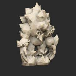 TrollIceStatue.jpg Download free STL file Troll x3 Earth Rock Ice • 3D printer object, CharlieVet