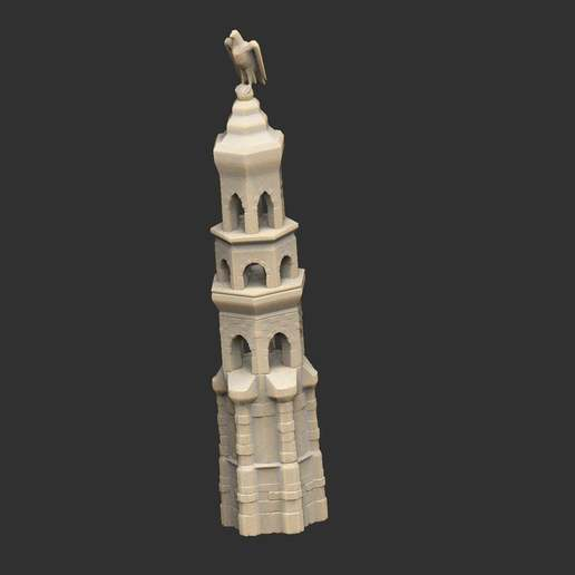 Download free 3D printer templates Eagle Topped Tower, CharlieVet