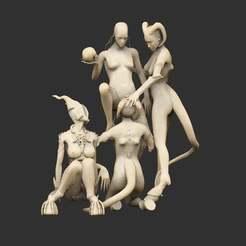 Impresiones 3D gratis Gran estatua de la Diosa Dio, CharlieVet