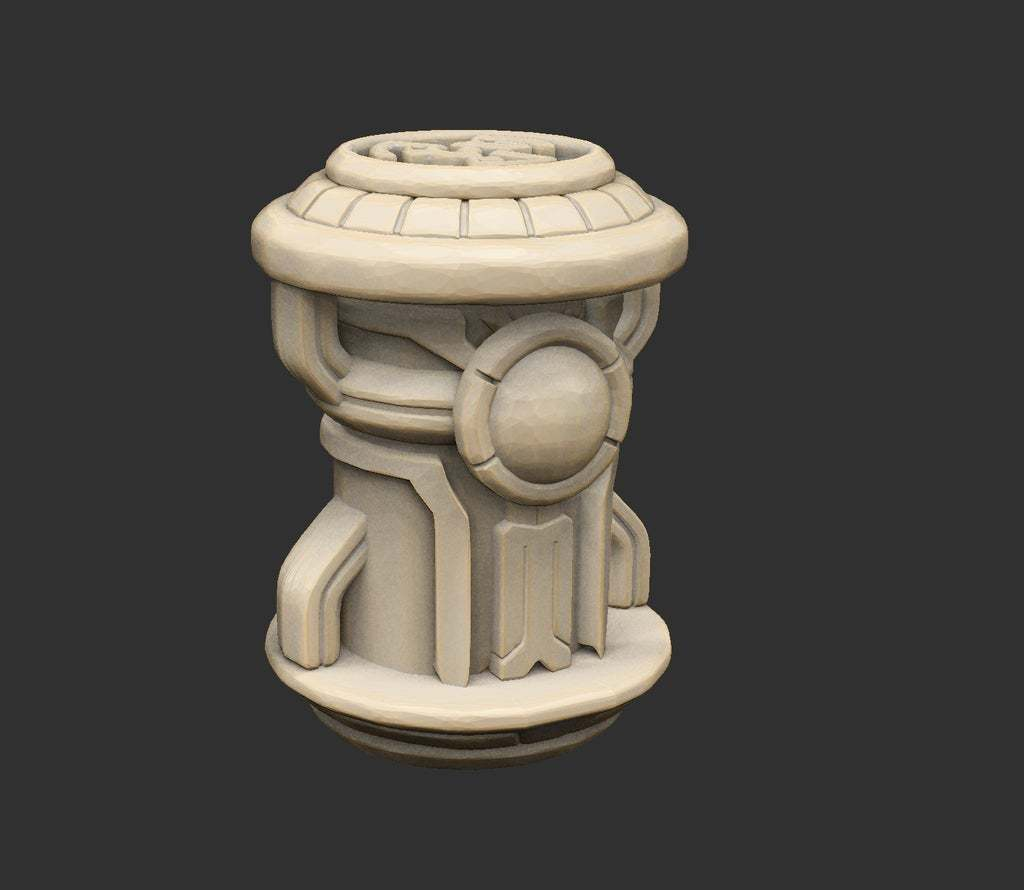 AlienFuelCanister.jpg Download free STL file Alien Ancient Props Chest Tablet Etc x12 Savage Planet • Model to 3D print, CharlieVet