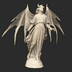 AngelicDemonStatue.jpg Télécharger fichier STL gratuit Statue de démon angélique ailé • Objet pour imprimante 3D, CharlieVet