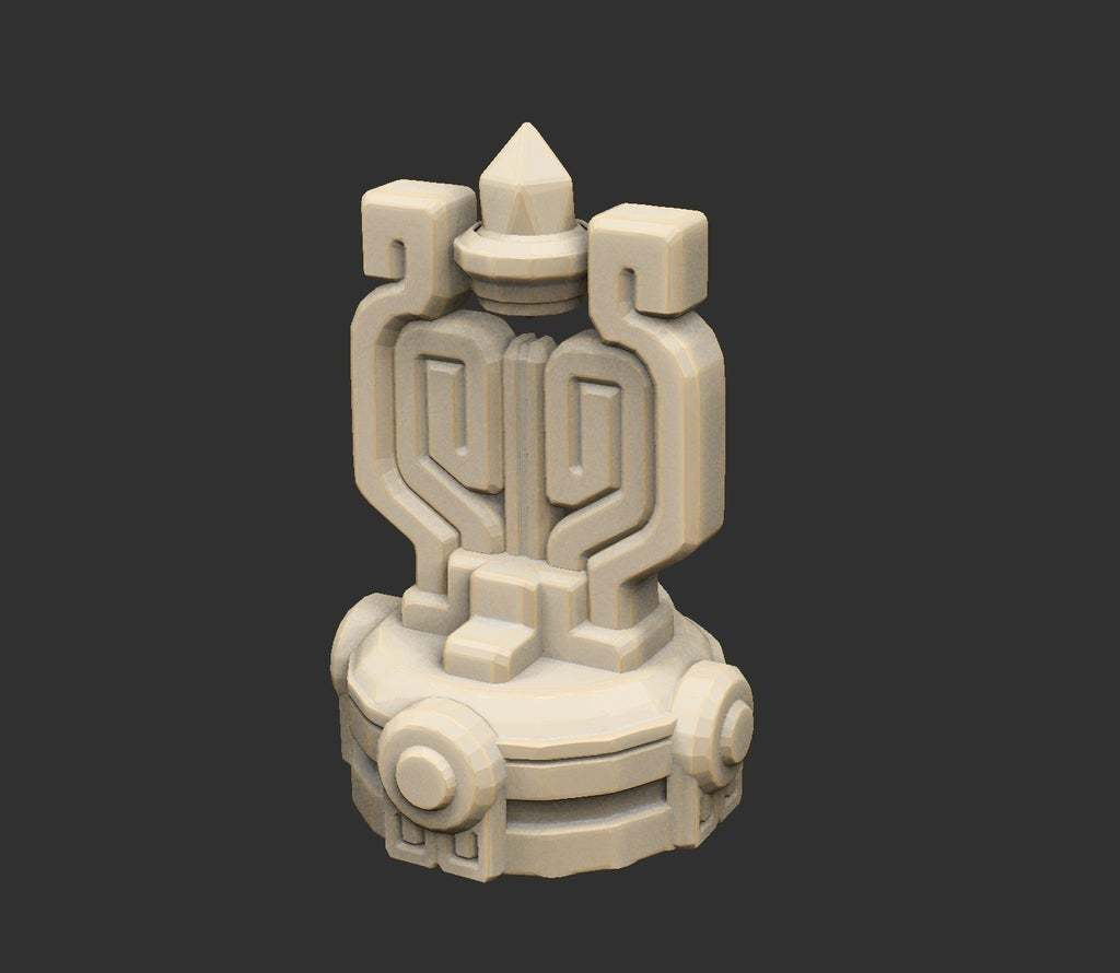 AlienSwitch.jpg Download free STL file Alien Ancient Props Chest Tablet Etc x12 Savage Planet • Model to 3D print, CharlieVet