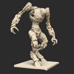 Pose38ZornWatchingUpgraded.jpg Download free STL file Cyberpunk Robots x6 • 3D printable object, CharlieVet