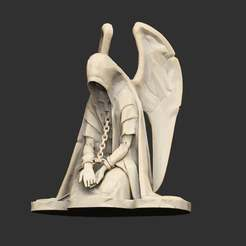 Download free 3D printing models Chained Angel Statue Sculpture, CharlieVet