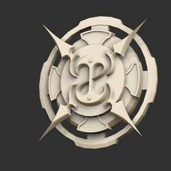 GuildSealP.jpg Download free STL file Fable Guild Seal • 3D printable design, CharlieVet