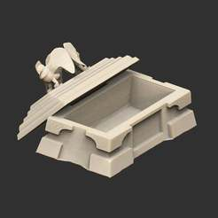 SarcophagusUsable.jpg Download free STL file Fable Sarcophagus Functional Box • 3D printing model, CharlieVet