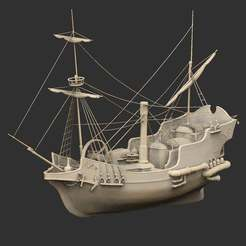 SteamGalleonP.jpg Download free STL file Steam Galleon • Model to 3D print, CharlieVet