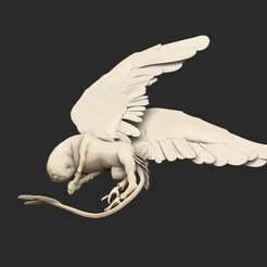 BirdBossSleep.jpg Télécharger fichier STL gratuit Le patron des oiseaux dort • Plan pour impression 3D, CharlieVet