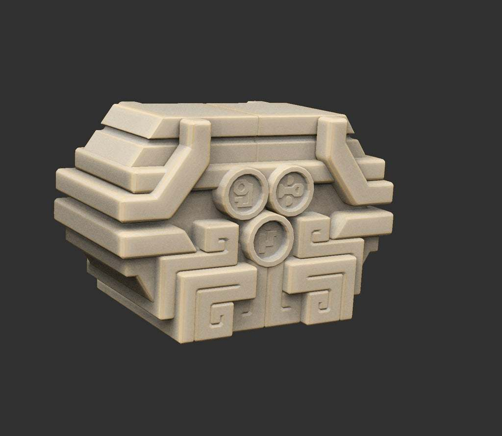 AlienChest.jpg Download free STL file Alien Ancient Props Chest Tablet Etc x12 Savage Planet • Model to 3D print, CharlieVet