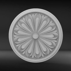 Download free STL file 3D STL Floral Rossete • 3D printing design, mk022dmg