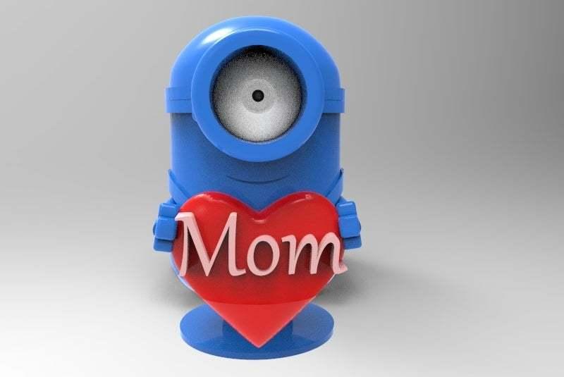 untitled.434.jpg Download free STL file minion loves mom • 3D printer object, veganagev