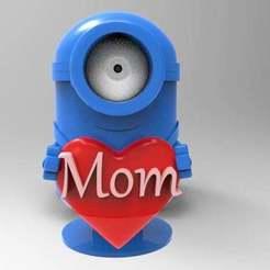Download free STL file minion loves mom • 3D printer object, veganagev