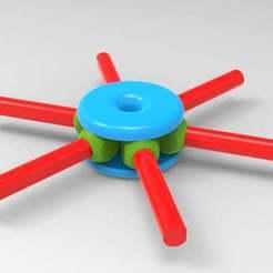 Download free STL file geodesic hub • 3D printer design, veganagev