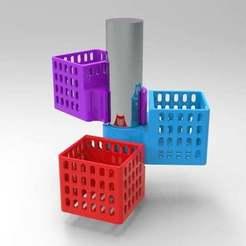 Télécharger fichier STL gratuit porte-savon pour poignée de douche • Modèle à imprimer en 3D, veganagev