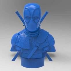 untitled.33.jpg Download free STL file deadpool bust remix • Object to 3D print, veganagev