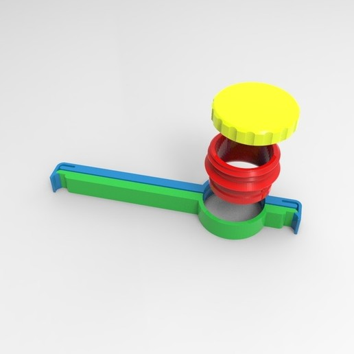 Download free STL file bag clip with cap remix • 3D printer template, veganagev