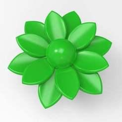 untitled.455.jpg Télécharger fichier STL gratuit bouton du poêle à fleurs • Modèle pour imprimante 3D, veganagev