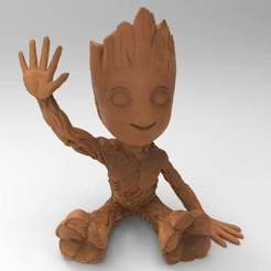 untitled.226.jpg Download free STL file baby groot hollow • Template to 3D print, veganagev