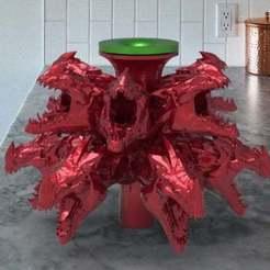 untitled.350.jpg Download free STL file dragon bell fountain • 3D printing model, veganagev