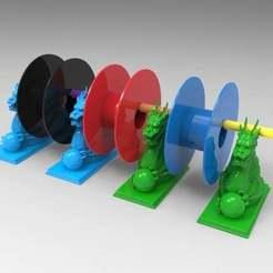 Télécharger fichier STL gratuit porte-filament de dragon • Plan à imprimer en 3D, veganagev