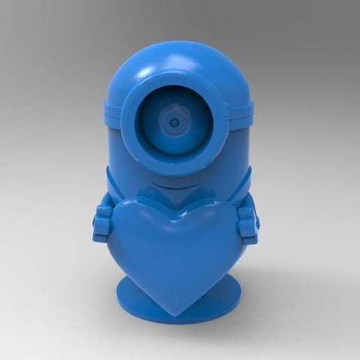 untitled.582.jpg Download free STL file minion heart • Template to 3D print, veganagev