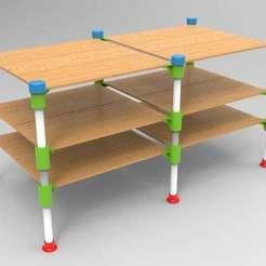 untitled.126.jpg Télécharger fichier STL gratuit connecteur de table rond • Plan imprimable en 3D, veganagev