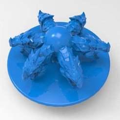 untitled.712.jpg Télécharger fichier STL gratuit bouton de dragon • Plan à imprimer en 3D, veganagev