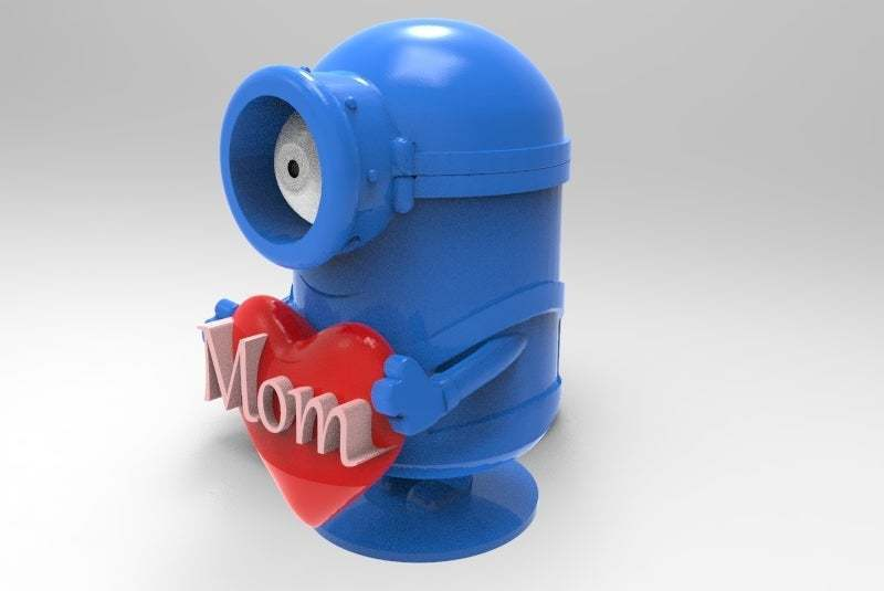 untitled.435.jpg Download free STL file minion loves mom • 3D printer object, veganagev