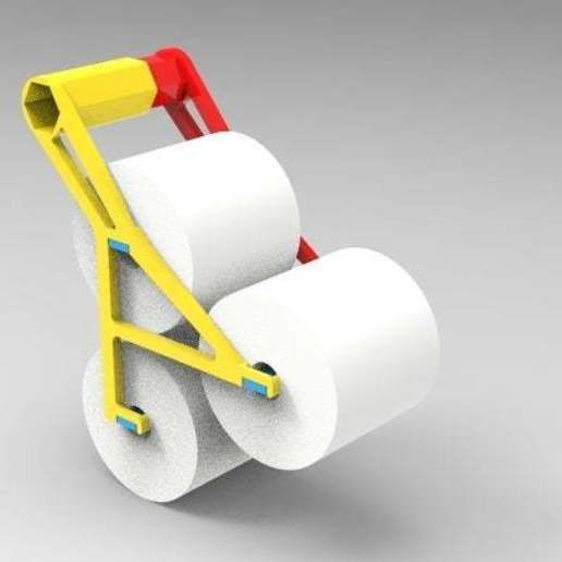 Download free STL 3 roll quik change toilet paper holder ・ Cults