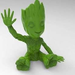 untitled.566.jpg Download free STL file baby groot salt & pepper shaker • 3D printable template, veganagev