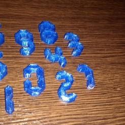 Télécharger objet 3D gratuit NOMBRES PUZZLE(puzle s čísly), Prokopmacek