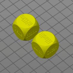 Download free 3D printing designs Dice (Hrací kostky), Prokopmacek