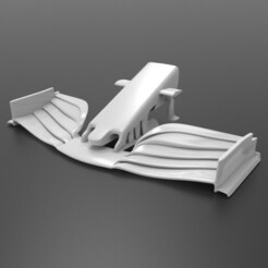 untitled.38.jpg Download STL file FERRARI SF90H F1 NOSE CONE AND FRONT WING • 3D printer template, Bananero