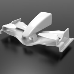 untitled.36.jpg Download STL file Renault R26 F1 nose cone and front wing • 3D print object, Bananero