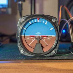 IMG_2343.jpg Download STL file Full 360° Attitude Indicator for Flight Simulator • 3D printing template, zockzock777