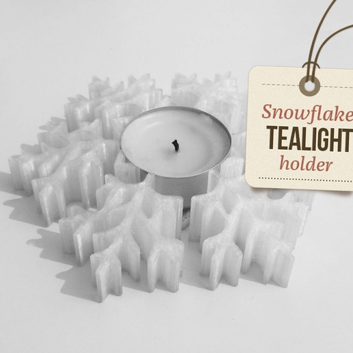 Download free 3D printer designs Tealight snowflake holder - christmas decoration, macnet