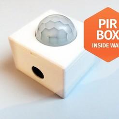 pir1.jpg Download free STL file PIR HC-SR501 Inside wall box enclousure case • 3D printer object, macnet
