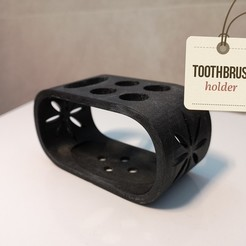 Imprimir en 3D gratis Porta cepillos de dientes, macnet