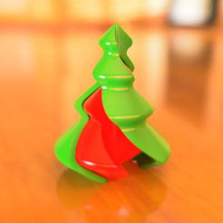 Descargar modelos 3D para imprimir Twisted Christmas Tree Ornament Vase Mode, Synwex