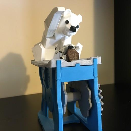 Download free 3D printing models Polar Bear with Seal (automata) , Amao